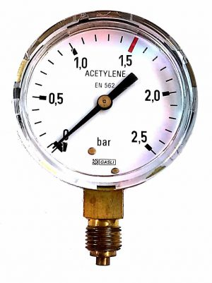 Manometer 0-2,5 Bar EURO - Harris Ø63m AC
