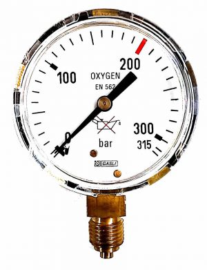Manometer 0-315 Bar - Harris Ø63m AC